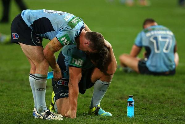 Dejected NSW players