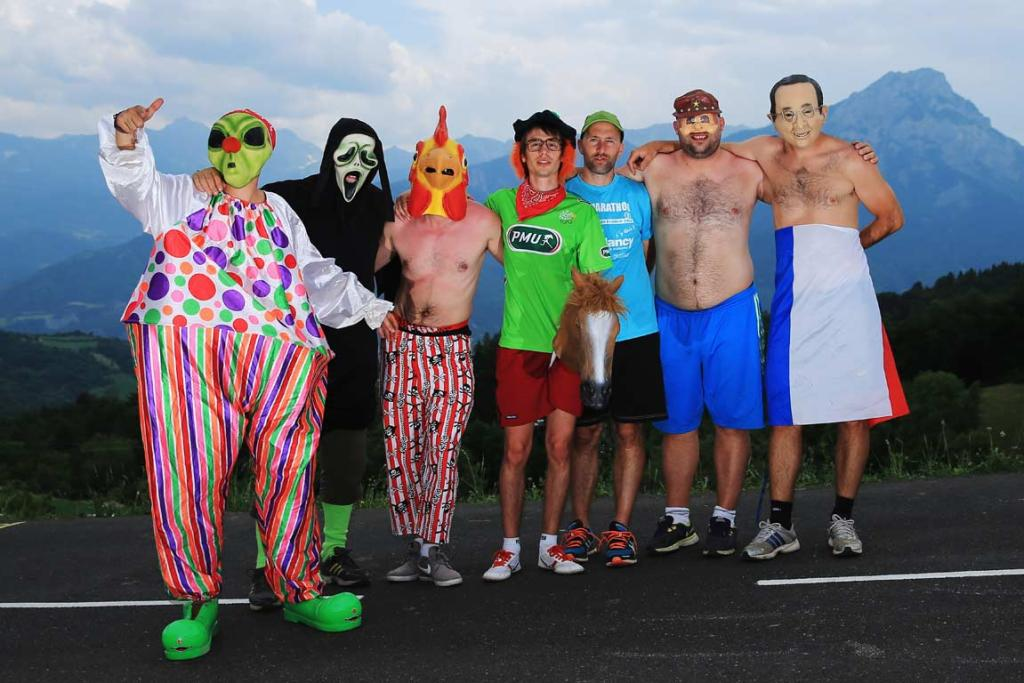 Spectators often turn the Tour de France into a Halloween party.