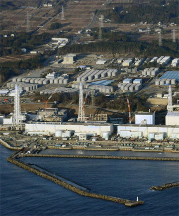 ONGOING PROBLEMS: An aerial view of Japan's Fukushima Daiichi nuclear power plant.