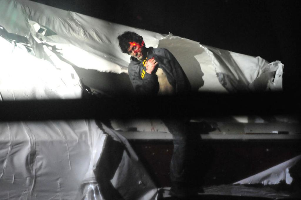 Tsarnaev emerges from the his hiding place