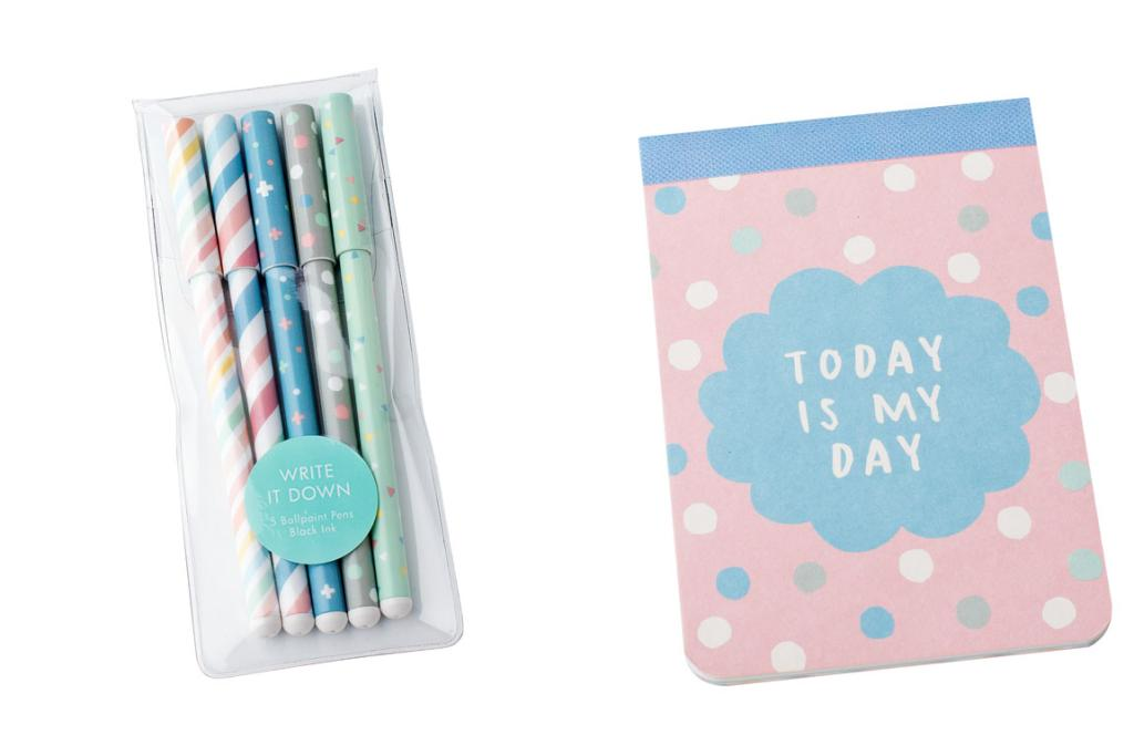 Kikki K 'Celebrate Today' notebook and pens - just arrived in-store ($5.90 and $12.90 respectively): Add colour and joy to your everyday, and have what you need to jot down a great idea.