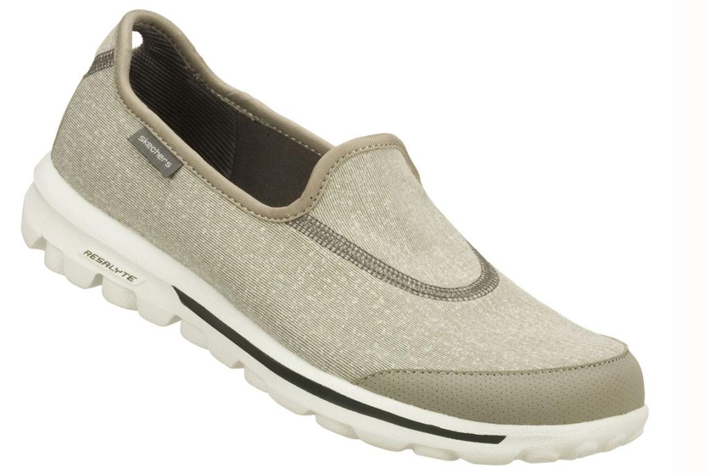 Skechers GOwalk - They weigh slightly over 100 grams each and have a 360 degree flexible sole - so not only can they be folded in half, but they can be rolled into a ball! You'll never be without a comfortable pair of walking shoes again ($119).