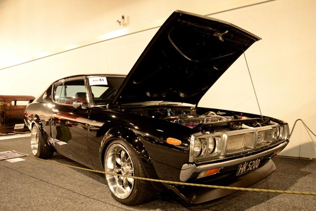 A 1974 Datsun 240K GT all set for the Custom and Classic Show at the 2013 CRC Speedshow in Auckland.