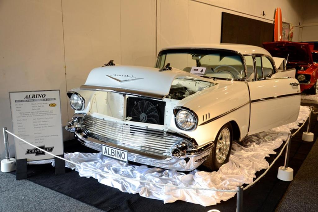 A 1957 Chevrolet Bel Air all set for the Custom and Classic Show at the 2013 CRC Speedshow in Auckland.