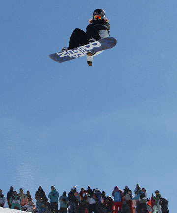 AIRDOG: World-renowned snowboarder, Shaun White, won Olympic gold in the snowboard halfpipe at Vancouver in 2010.