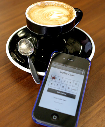 E-MAKEOVER: Wallets clogged with loyalty cards are a familiar problem for coffee addicts, but now a group of students has developed an alternative - a loyalty card app.