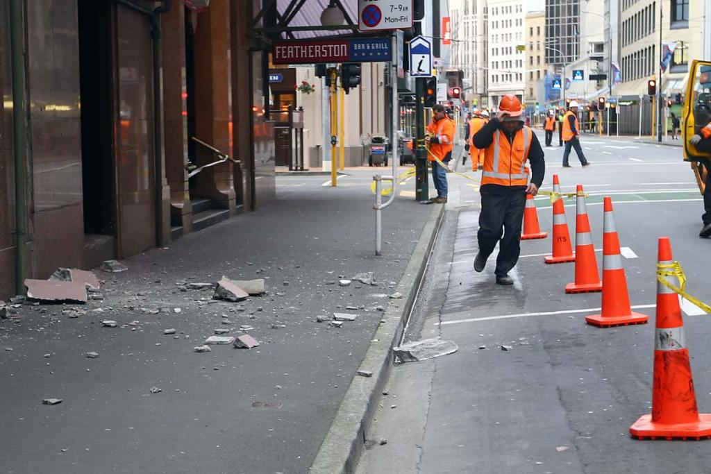 Featherston St post-quake