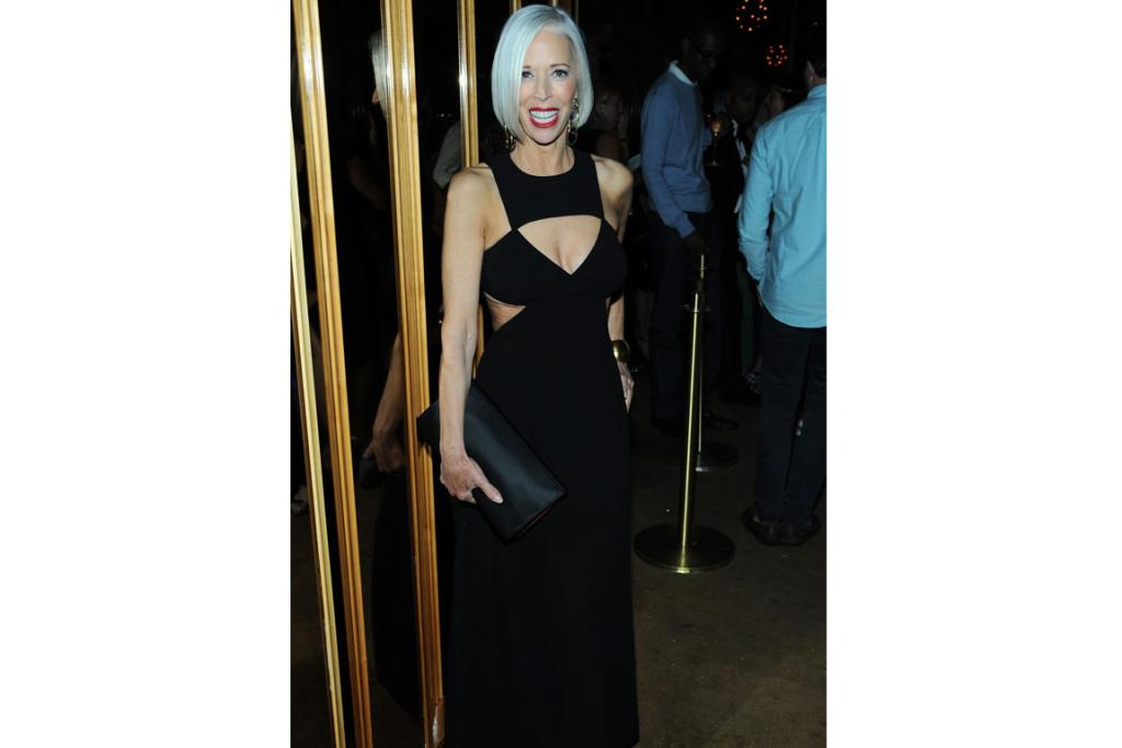 Fashion director at Bergdorf Goodman, Linda Fargo, 52, in a Michael Kors cut-away gown at the CFDA awards