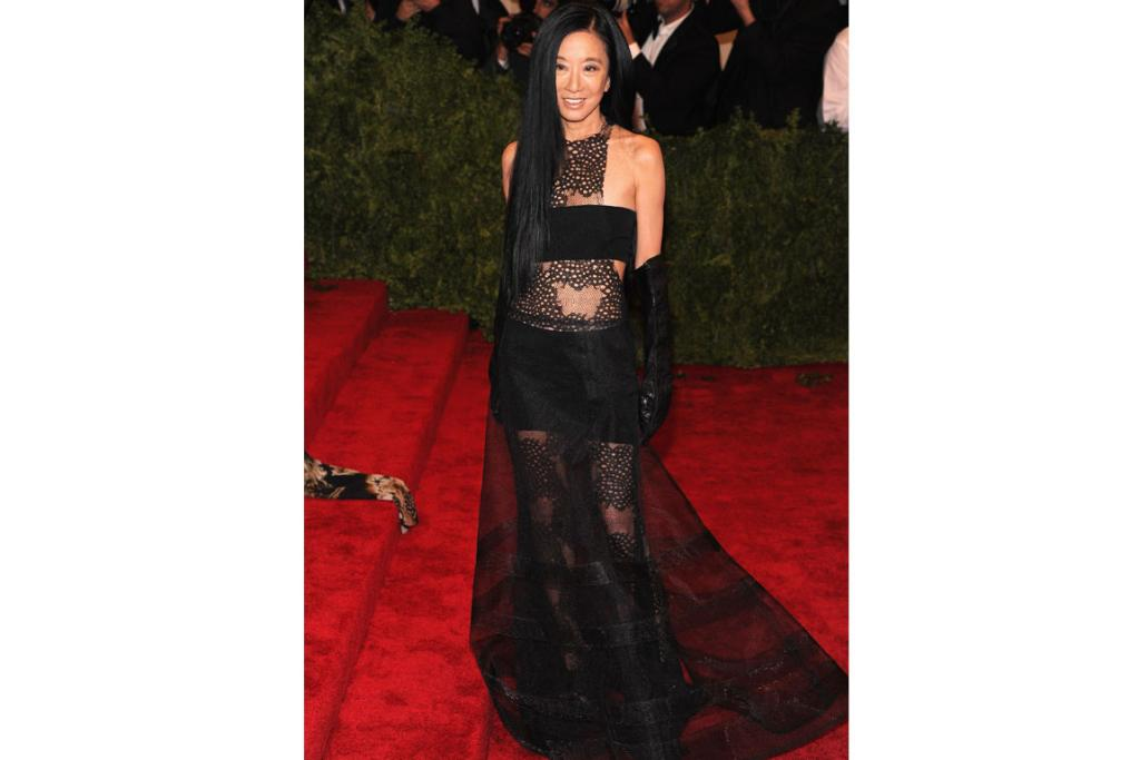 Designer, Vera Wang, 64, in her own creation at the CFDA awards.