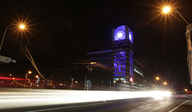 New Plymouth's clock tower