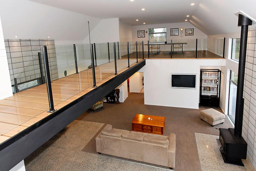 Burnham barn meets new york apartment for How to build a mezzanine floor in your home