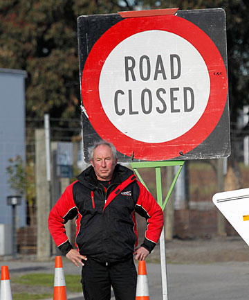NOT HAPPY: Airpark Canterbury business development manager Phil Garrett is angry at ''incompetent'' delays in opening the section of McLeans Island Rd between Logistics Drive and Johns Rd.