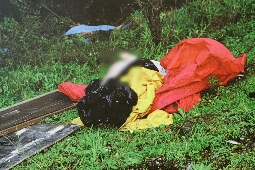 A crime scene photo from the Katrina Jefferies homicide released as police offer $50,000 for information leading to a conviction.