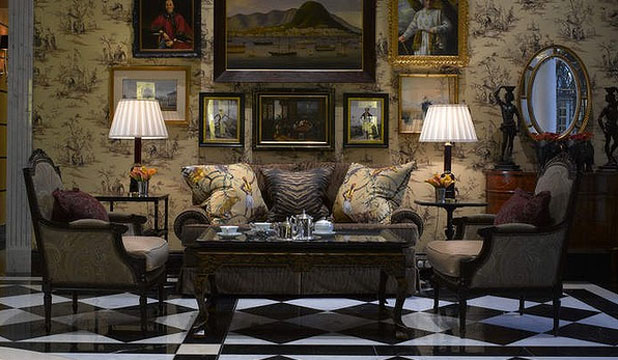 RESTORED GLORY: The 'new' Savoy keeps its old-school grandeur, including the polished foyer.