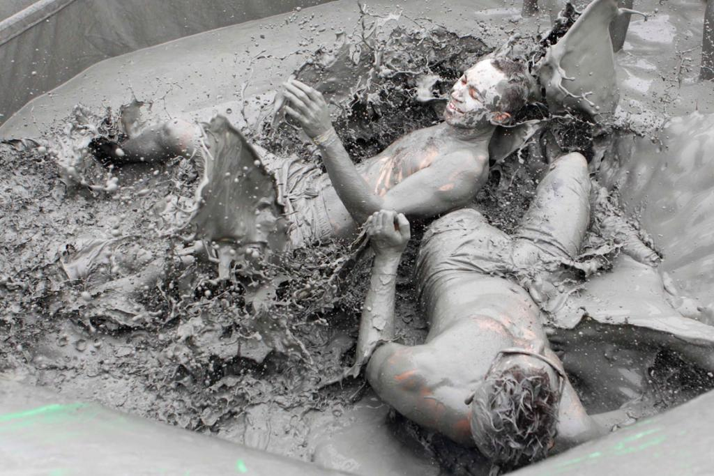 Things get a little dirty at the Boryeong Mud Festival.