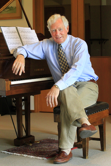 Sweet notes: Blenheim pianist Malcolm Tomes