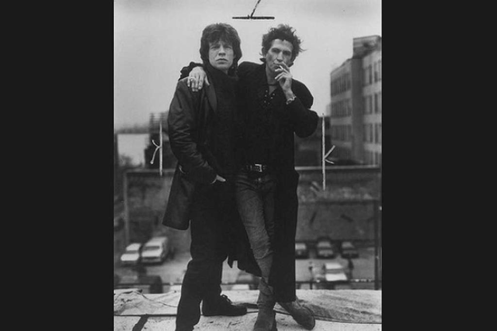 Mick Jagger and Keith Richards of the Rolling Stones, 1994.