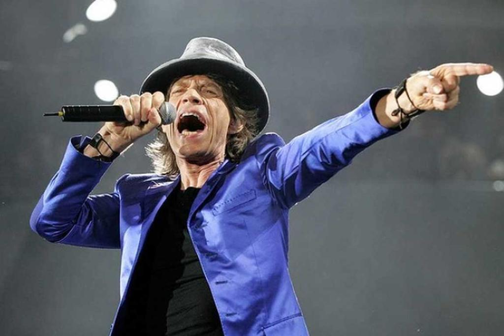 The Rolling Stones Mick Jagger performs at Frank Clair Stadium in Ottawa, 2005.