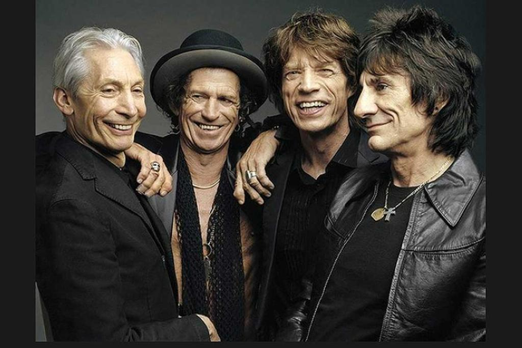 """Charlie Watts, Keith Richards, Mick Jagger and Ron Wood of The Rollings Stones are shown in this undated publicity photo, released 2005, after it was announced that the latest Rolling Stone CD and tour will be titled """"A Bigger Bang""""."""