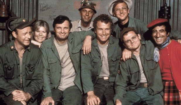 The cast of M*A*S*H. The comedy series didn't really reflect Kiwi experiences of the war, says former soldier Bob Jagger.