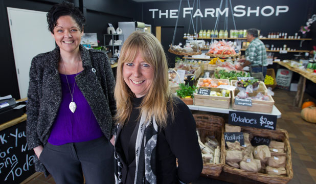 FRESH IDEA: Gemma McGarry, left,  and Tanya Clancy run The Farm Shop in Gordonton, which only stocks goods from local growers and producers.