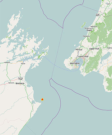 SHAKE: The 5.4-magnitude quake struck at 1.07am, and was centred 20km east of Seddon at a depth of 12km.