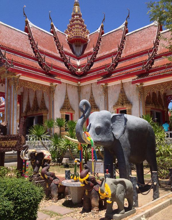 Chalong Temple in Phuket, Thailand.