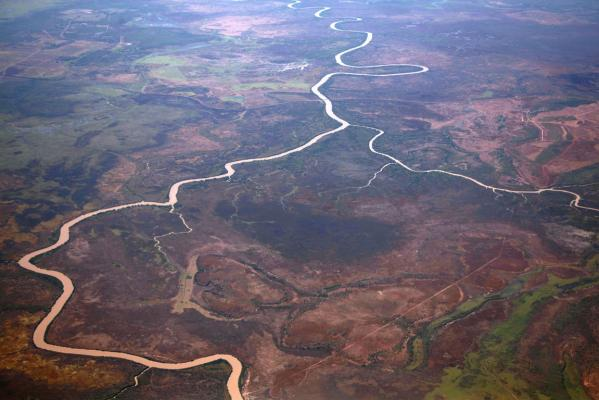 The East Alligator River flows through Arnhem Land, located east of Australia's Northern Territory city of Darwin.
