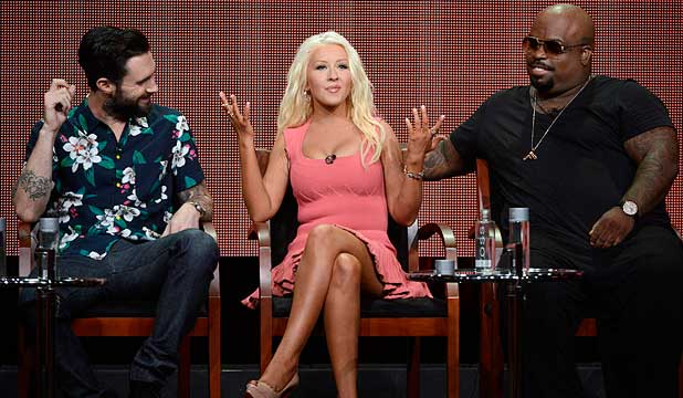 MENTORS: Adam Levine, Christina Aguilera, CeeLo Green talk about their role at The Voice.