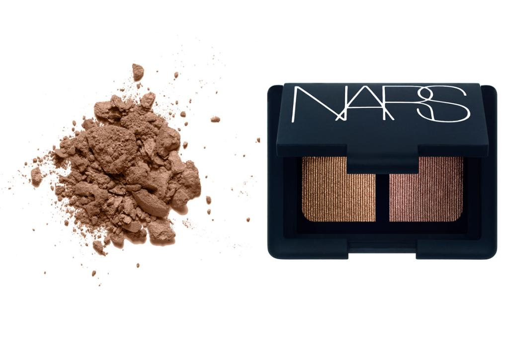 COPPER TONES: Inika Mineral Eyeshadow in Copper Crush, $28.99 and Nars Eyeshadow Duo in Kalahari, $72 (exclusive to Mecca Cosmetica).