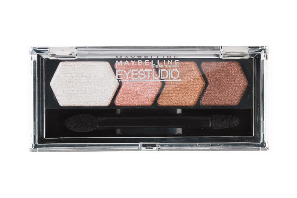 COPPER TONES: Maybelline New York Eye Studio Quad Shadows in Copper Chic, $15.99.