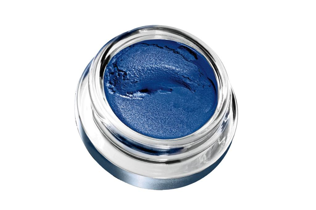 BLUE SHADES: Maybelline New York Eye Studio 24Hr Color Tattoo Metallics in Electric Blue, $13.99.