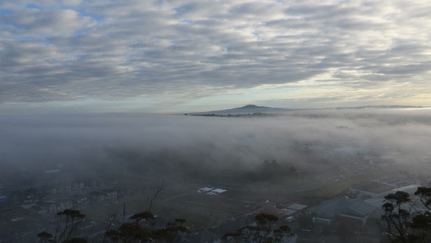 Fog over Auckland