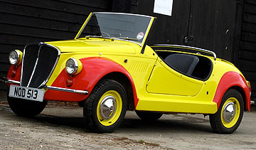 CHEERS BIG EARS: This ex-Enid Blyton ''Noddy Car'' – a 1969 Fiat 500 Gamine - sold for NZ$56,013 at a classic car auction at Silverstone.