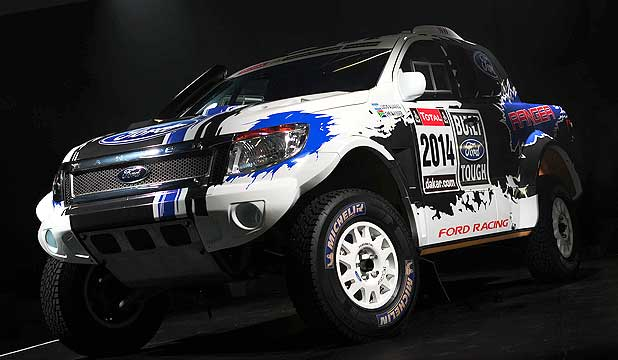 One of the two Mustang V8-powered Ford Rangers that will tackle the Dakar Rally.