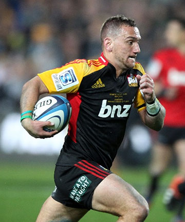 SOLO TRY: Aaron Cruden's brilliant individual try was just reward for some standout defence in the semifinal against the Crusaders.