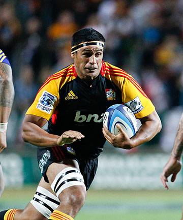 TESTING TIMES: Tanerau Latimer is aware of the huge challenge Brumbies flanker George Smith presents.