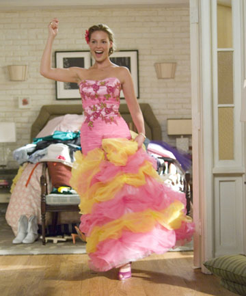 27 DRESSES: Katherine Heigl was put to the ultimate bridesmaid test, over and over again, in this movie.