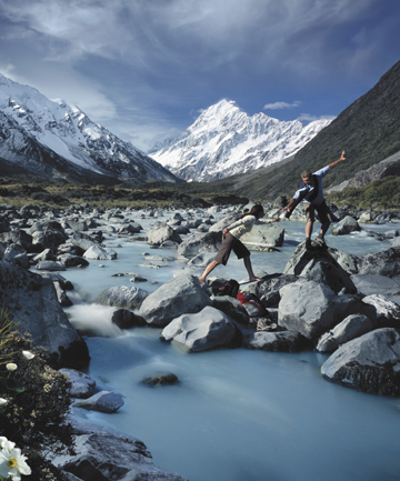 MT COOK: New Zealand's most famous mountain as it features in the 100% Pure campaign.