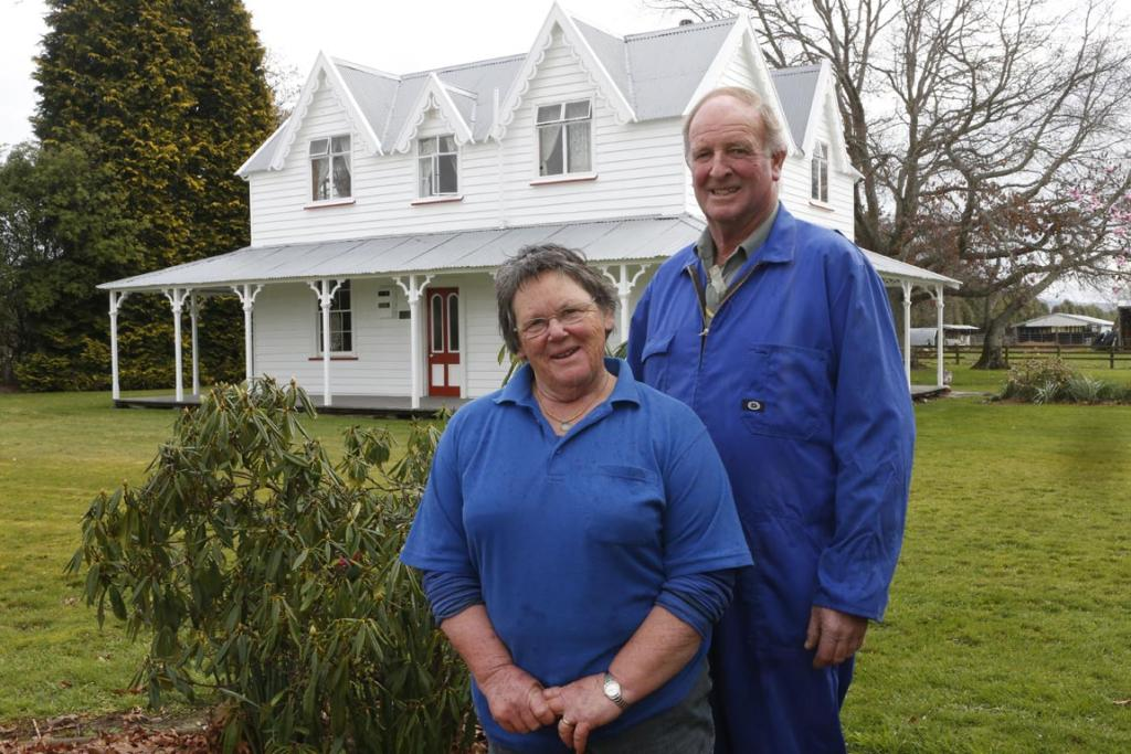Dairy farmers Ted and Clare Ford at their Appleby property on the Moutere Highway, Nelson.