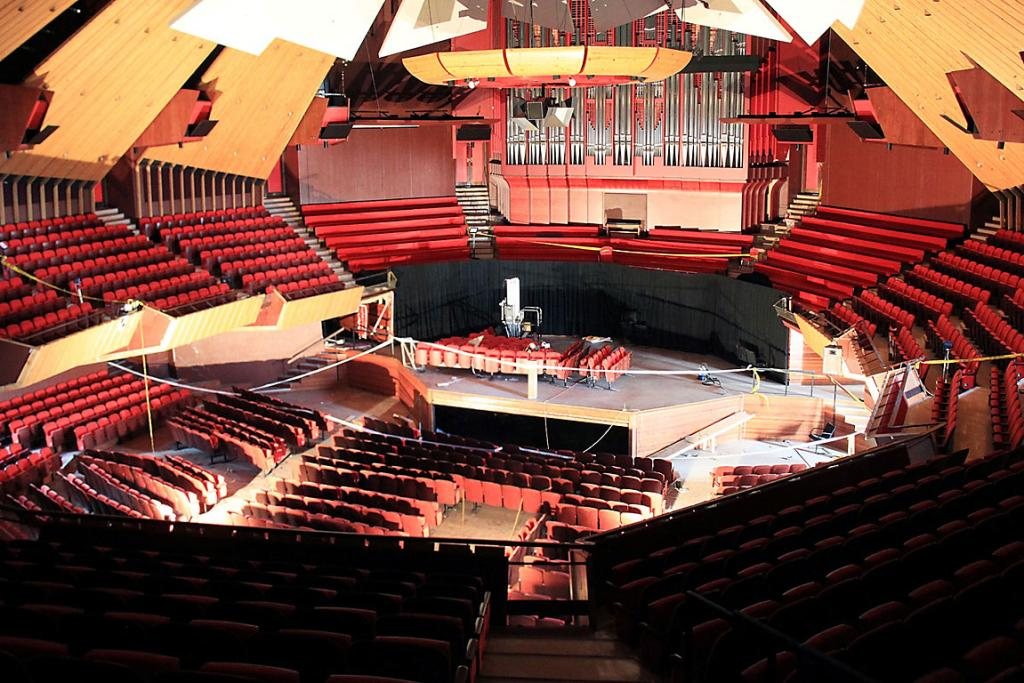 MUCH-LOVED: The Christchurch Town Hall auditorium as it is now.