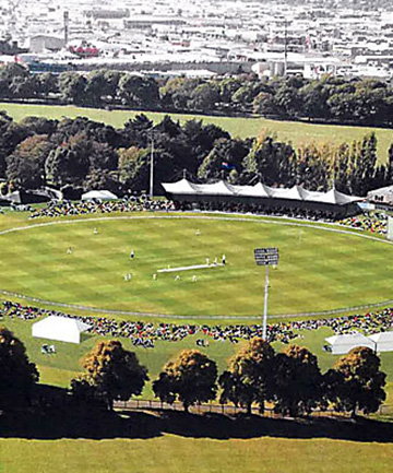 An image of the proposed development for Hagley Oval.