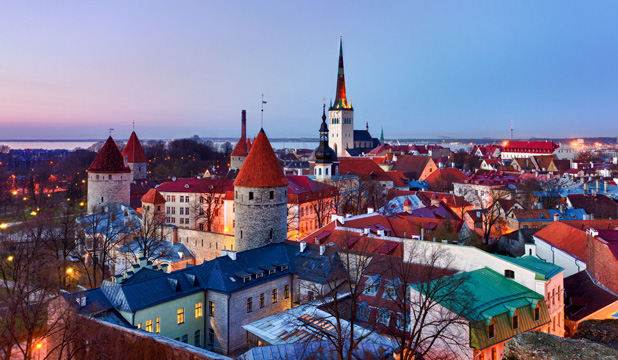 HARD HISTORY: Tallinn's architecture evolved to fight invasion.