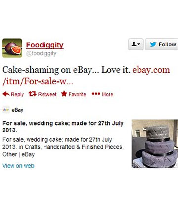 CAKE-SHAMING: The Twittersphere seemed to be rather amused by the cake that was on offer.