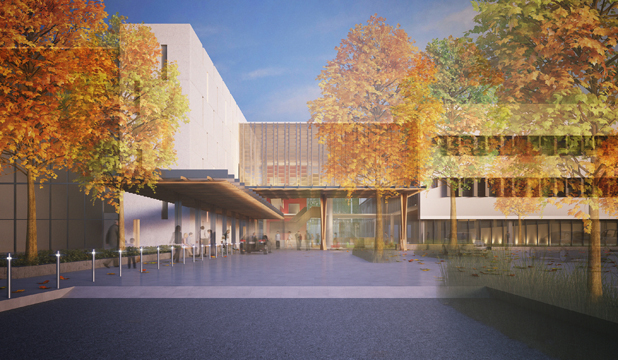 Wards go up at new burwood campus for Landscape design company christchurch
