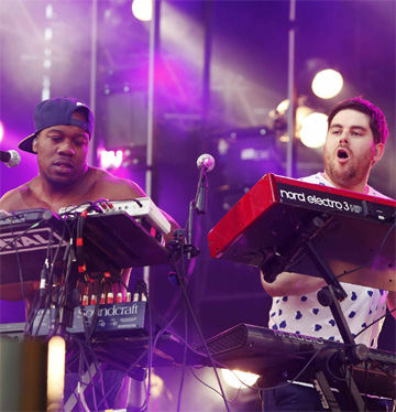 British band Rudimental perform during the Isle of MTV Malta concert in Floriana, outside Valletta, in June.