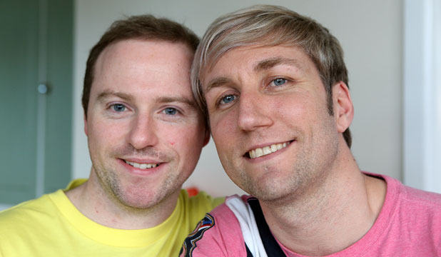 MARRYING TIME: Richard Rawstorn and Richard Andrew are already civil union partners but want to receive the same rights as opposite-sex couples.