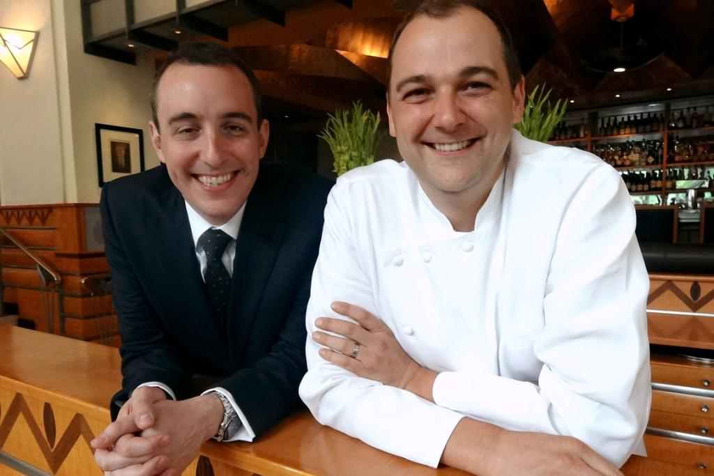 Will Guidara and Daniel Humm, the owners of Eleven Madison Park. Humm won the James Beard award for outstanding chef after taking the top restaurant accolade.