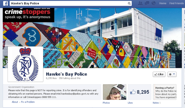 Criminals 'like' police Facebook page | Stuff co nz