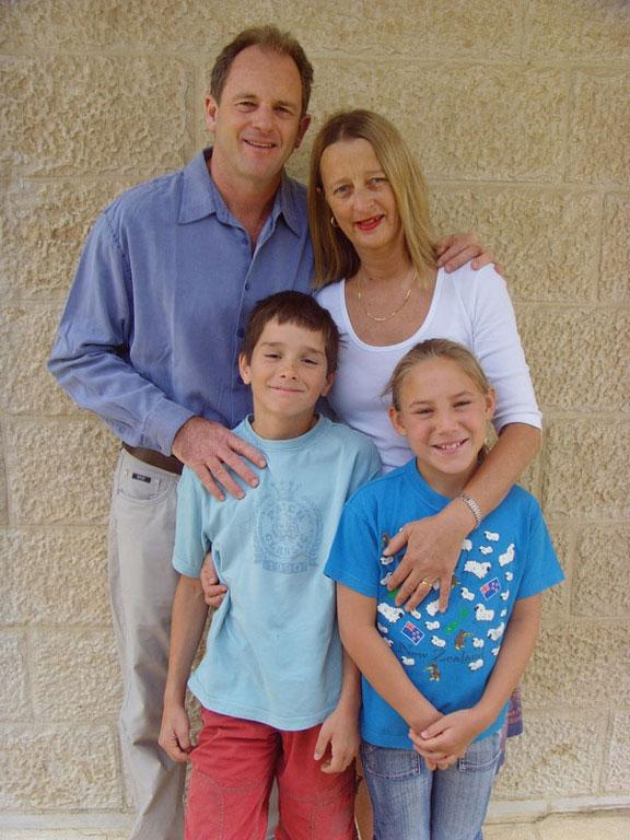 David Shearer with his family while working for the UN in Iraq.